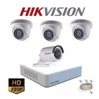 Kit Cctv Hikvision Turbo Hd Mini Dvr 4ch +4 Cámarashd +disco segunda mano  Cartagena De Indias